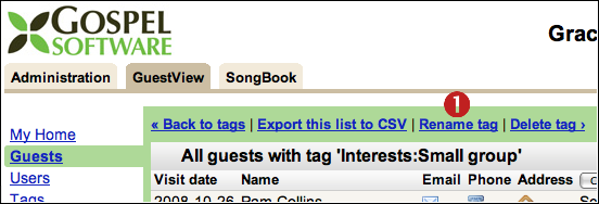 GuestView tag page